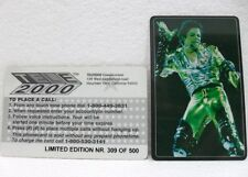 SCHEDA TELEFONICA MICHAEL JACKSON-limited edition 500 pz-TELE2000 COMUNICATIONS