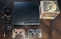 Sony PS3 Slim 160GB Console Bundle With 11 Games And 2 Controllers