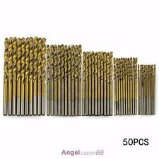 1mm-3mm 50Pcs Titanium Coated HSS High Speed Steel Drill Bit Set Tool Kit