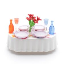 Playmobil 9272 - Table Table Salle à Manger Assiette Bouquet Bouteille Verre