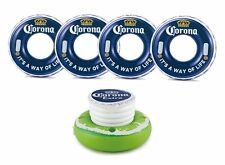 """Corona 31"""" It's a Way of Life Bottle Cap Swimming Pool Tube and Cooler, 4 Pack"""
