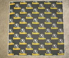 "NFL PITTSBURGH STEELERS BLACK XL 25"" BANDANA / CHEERING CLOTH - APPROX 25 """