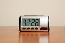Mini Table Clock Type Motion Detection Remote Hidden Spy Nanny Camera with Audio