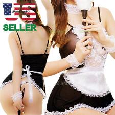 Women's-Sexy-Lingerie-Sleepwear-Lace-Dress-Nightwear-Underwear-Babydoll-Chemise