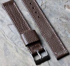 Leather 16mm vintage watch strap 1940s/50s Jb Champion Usa textured Scotch Grain