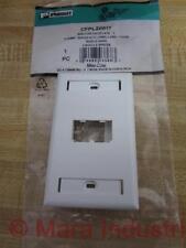 Panduit CFPL2WHY Mini-Com Faceplate C - New No Box