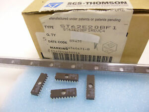 1 Stück  / 1 piece ST62E20BF1 8-bit EPROM MCU w. A/D-CONVERTER ST62E10 ST62T