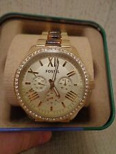Fossil Watch, Women's Cecile Tortoise and Gold-Tone Stainless Steel - AM4499