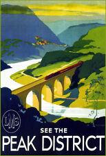 See The Peak District London Midland & Scottish  Train Rail Travel  Poster Print