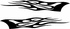 "Pair Of Tribal Flames - 12"" x 2"" Choose Color - Vinyl Decal Sticker #1765"