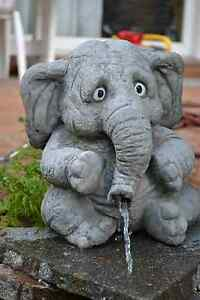 großer Elefant 'Benjamin' - Wasserspeier - Skulptur - Steinfigur - Gartendeko
