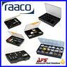 Raaco Assortment Fixed Compartment Polypropylene Sliding Lock Storage Box Case