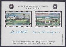 Bund Sporthilfe 1993 Entwurf Block Gottschall Detlefsen, Für den Sport