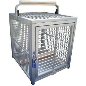 King`s Cages Aluminium Parrot Travel Cage - Small Silver