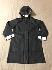NEW Topshop Shark Print Lined Rain Mac Jacket Coat - Black - 2US / 34EUR / 6UK