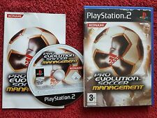Pro Evolution Soccer Management Black Label SONY PLAYSTATION 2 PS2 PAL