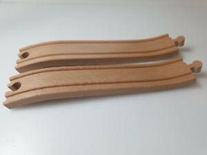 Ascending Track x2 Wooden Railway Train Set thomas brio thomas elc