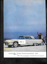 FORD THUNDERBIRD FOR 1959 THE CAR EVERYONE WOULD LOVE TO OWN SNOW COUPLE AD