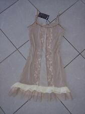 CREAM Kleid Unterkleid beige braun L 38 40 Lagenlook Spitze neu Trägerkleid NEU