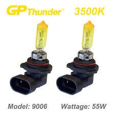 GP Thunder 3500K Super Gold Xenon Halogen Light Bulbs Pair 9006 HB4 55W