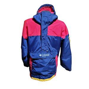 Vintage 90s Columbia Sportswear Mountain Parka Jacket Size Medium Ski Pullover