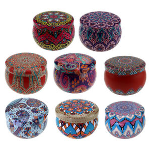 8Pc Candle Tin Jars Candle Making Kit Holders Storage Case Cans For Dry Storage
