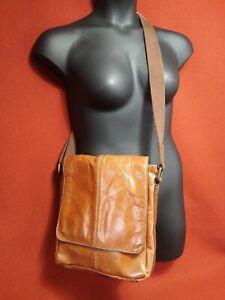 Fossil Brand Crossbody Brown Leather Shoulder Bag
