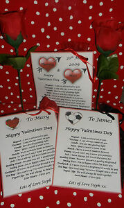 Personalised Valentines Day Gift Bag Survival Kit Bag of Love For Him For Her