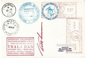 Polarpost: Expedition Antarctique Francaise - THALA DAN - Aden - 12.04.66