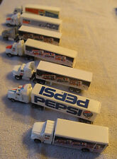 Mixed Lot of 7 Road Champs Pepsi Cola Diecast Tractor Trailers