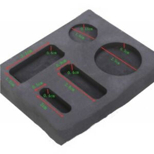 Graphite Crucible Ingot Bar Combo Mold Fit For Silver Gold Melting Casting
