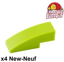 Lego - 4x Slope curved pente courbe 3x1 vert citron/lime 50950 NEUF