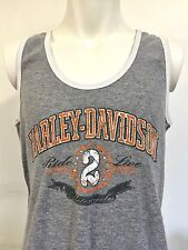 Harley Davidson Small Tank Top Gray Shirt Live to Ride 2 Live New Castle DE Mike