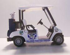 DIECAST GOLF CART BUGGY-Bulldogs Clubs,Driver,Iron,Putter,Bag, Ball,Trolley