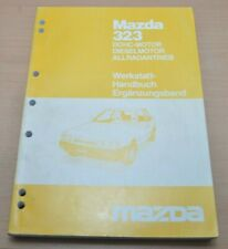 MAZDA 323 BF Motor PN B6 DOHC 1986 Allradantrieb 4WD 4x4 Werkstatthandbuch
