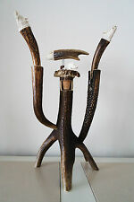 Wine Deer / stag holder 5 pieces, wild boar design,  handmade and hand crafted