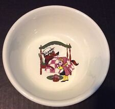 Taylor Smith & Taylor T S T Little Red Riding Hood Child's Bowl Dish Made In USA