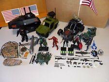 Gi Joe Arah Lot Vintage Vehicles 25Th, 30Th, Poc Figures weapons & Accessories