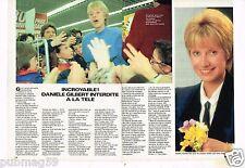 Coupure de presse Clipping 1984 (2 pages) Danièle Gilbert
