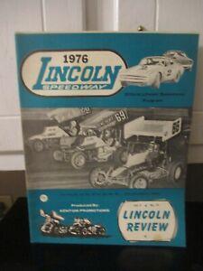 1976Lincoln Speedway Program IRVIN KING DUB MAY VAN MAY