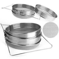 New Honey Strainer Stainless Steel Double Sieve Beekeeping Equipment Filter S/L