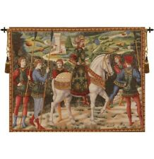 """MelchiorI French Tapestry Wall Hanging H 42"""" x W 58"""""""