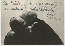 Arthur RUBINSTEIN (Pianist): Signed Photograph Embracing Nikita MAGALOFF