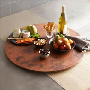 "20"" Copper Lazy Susan Handhammered Antimicrobial Surface for Kitchen"