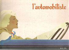 L'AUTOMOBILISTE 41 1976 LES FEMMES ET L'AUTO LAMES DE RASOIR PANHARD & LEVASSOR