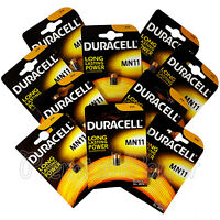 10 x Duracell Alkaline MN11 6V batteries E11A A11 WE11 CX21A L1016 Remote Alarms