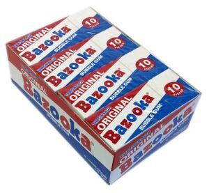 12x Throwback Original Bazooka Bubblegum 10 Pieces Pack American Bubble Gum
