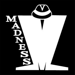 2pcs Madness Sign vinyl car sticker decal music band graphic group scooter