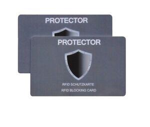 PROTECTOR RFID NFC Schutzkarte Blocker gegen elektronischen Diebstahl/ 2er- Set
