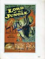 Johnny Sheffield Jsa Coa Hand Signed 9x11 Lord Jungle Photo Autograph